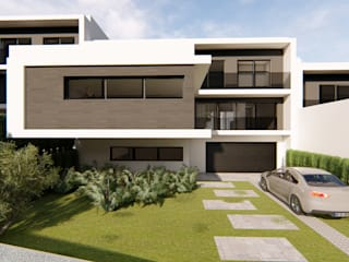 Imagens casas em série Casas modernas por Mira3D concept Moderno