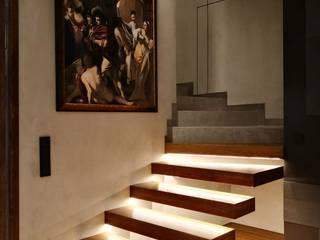Modern corridor, hallway & stairs by Project Art Joanna Grudzińska-Lipowska Modern