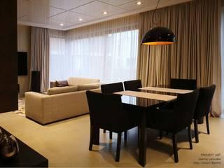 Piękne 2 poziomowe mieszkanie na Mokotowie: styl , w kategorii Salon zaprojektowany przez Project Art Joanna Grudzińska-Lipowska