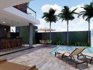 Projeto para Residencia: Terraços  por Adriana Bartolomucci,Moderno