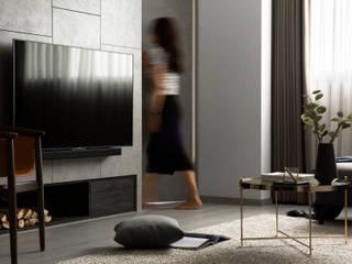 Salas / recibidores de estilo  por 引裏設計, Moderno