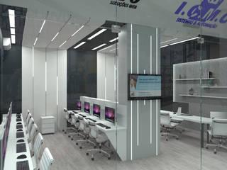 Pixelvivo - I.C.M.C Atilo's Arquitetura Lojas & Imóveis comerciais modernos Madeira Branco