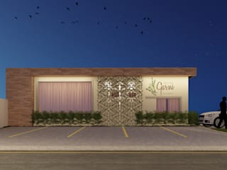 Oficina Garni - Restaurante Atilo's Arquitetura Espaços gastronômicos modernos Concreto Bege
