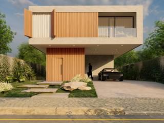 Residência - R1 Atilo's Arquitetura Casas familiares Madeira Cinza