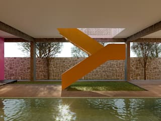 Laboratorio Mexicano de Arquitectura Garden Pool Concrete Yellow