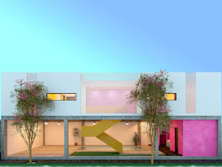 Laboratorio Mexicano de Arquitectura Multi-Family house Concrete White