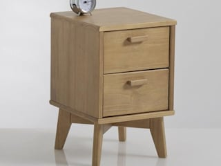 The H design BedroomBedside tables Solid Wood Brown