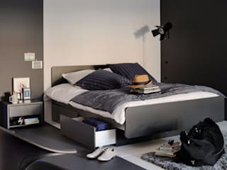 The H design BedroomBeds & headboards Solid Wood Black