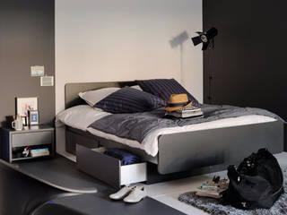 The H design SchlafzimmerBetten und Kopfteile Massivholz Schwarz