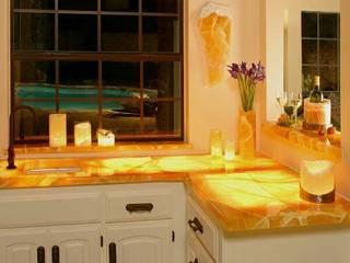 CUBIERTAS DE ÓNIX Y MARMOL de Muebles para baño ORSA Rústico