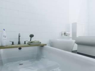 Diseño de interiores y fachada - Vivienda Maipu Baños modernos de M3 ARQUITECTURA Moderno