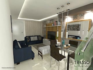 Living room by TRASSO ATELIER
