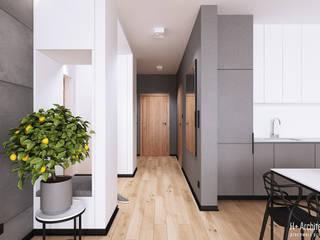 Modern Koridor, Hol & Merdivenler H+ Architektura Modern