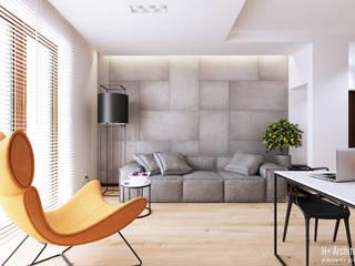 Modern Oturma Odası H+ Architektura Modern