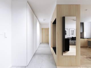 Konwaliowa 02 | Turka Nowoczesny korytarz, przedpokój i schody od H+ Architektura Nowoczesny