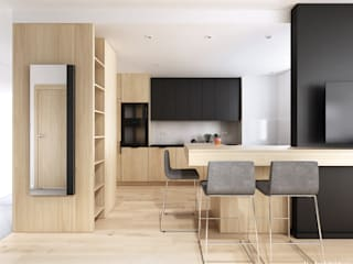 Konwaliowa 02 | Turka Nowoczesna kuchnia od H+ Architektura Nowoczesny