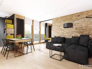 Śmiałego | Lublin Nowoczesny salon od H+ Architektura Nowoczesny