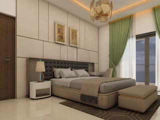 Interior in villa in Coimbatore :   by Sky architects,