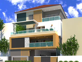 "Elevation Design -Andhra Pradesh, Day and Night view of 3d: {:asian=>""asian"", :classic=>""classic"", :colonial=>""colonial"", :country=>""country"", :eclectic=>""eclectic"", :industrial=>""industrial"", :mediterranean=>""mediterranean"", :minimalist=>""minimalist"", :modern=>""modern"", :rustic=>""rustic"", :scandinavian=>""scandinavian"", :tropical=>""tropical""}  by Sky architects,"