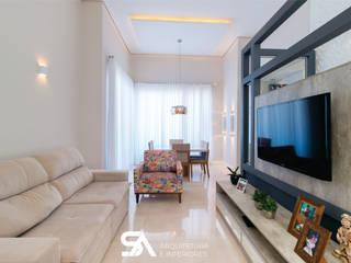 Modern dining room by SA Arquitetura e Interiores - Samuel Silva e Fernanda Barbi Modern