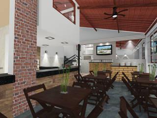 Projeto do Restaurante Espaço Sabor: Espaços gastronômicos  por Padilha Arquitetura e Urbanismo,Rústico
