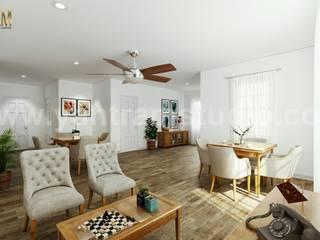 Salas de estar modernas por Yantram Architectural Animation Design Studio Corporation Moderno