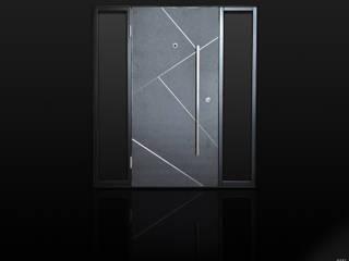 Porta blindata in gres con laterali vetrati di Ercole Srl Moderno