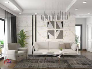 Công trình tủ bếp acrylic và nội thất gỗ công nghiệp An Cường nhà chị Thắng – P401 tòa S1 Goldmark City: hiện đại  by Nội thất Hpro, Hiện đại