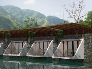 pool villae by chain tree architects Tropical