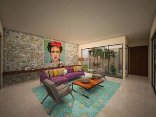 Гостиная в . Автор – Ileana Pérez Arquitectura + Diseño, Модерн