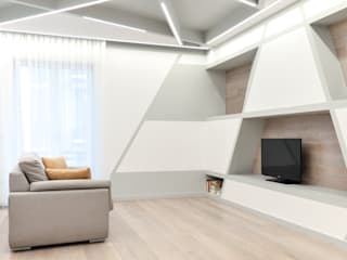 CORFONE + PARTNERS studios for urban architecture Modern Living Room