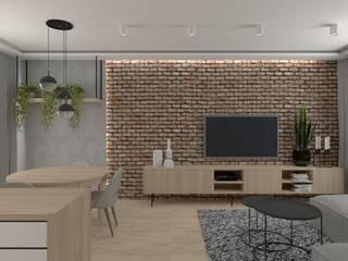 Modern Oturma Odası SPATIO PROJEKTOWANIE WNĘTRZ Modern
