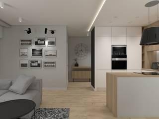 Salones modernos de SPATIO PROJEKTOWANIE WNĘTRZ Moderno