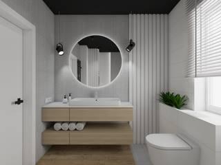 モダンスタイルの お風呂 の SPATIO PROJEKTOWANIE WNĘTRZ モダン
