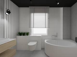 Baños modernos de SPATIO PROJEKTOWANIE WNĘTRZ Moderno