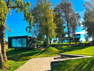 Quincho Lago Puyehue: Casas unifamiliares de estilo  por BUVINIC ARQUITECTURA, Moderno
