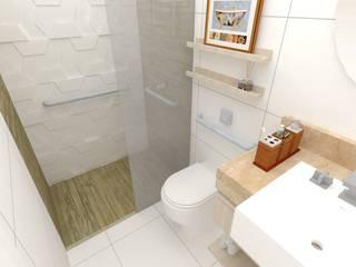 Projeto de Interiores - PBS Banheiros modernos por LEMA Arquitetura e Engenharia Moderno
