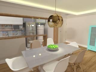 Projeto de Interiores - PBS Salas de jantar modernas por LEMA Arquitetura e Engenharia Moderno