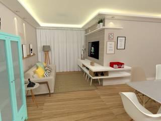 Projeto de Interiores - PBS Salas de estar modernas por LEMA Arquitetura e Engenharia Moderno