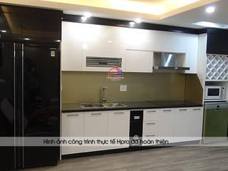Công trình tủ bếp acrylic nhà chị Hằng - Tp.Vinh, Nghệ An: hiện đại  by Nội thất Hpro, Hiện đại