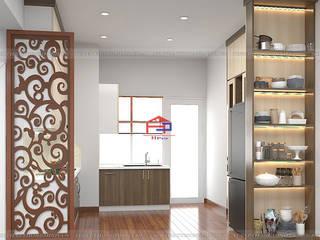 Công trình nội thất gỗ melamine An Cường nhà chị Thoa P307 Pakexim1 An Dương Vương, Tây Hồ: hiện đại  by Nội thất Hpro, Hiện đại
