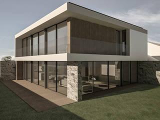 HABITAÇÃO UNIFAMILIAR EM ESMORIZ: Casas  por Salomé Ventura Arquitecta,
