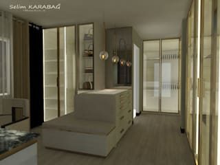 SK MİMARLIK – giyinme odası:  tarz ,