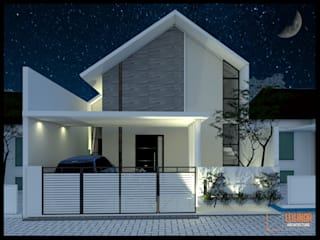 Modern House CV Leilinor Architect Terrace house Grey