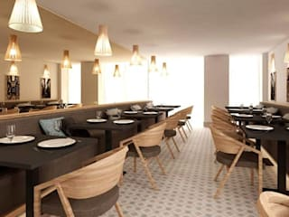 MIA arquitetos Minimalist dining room