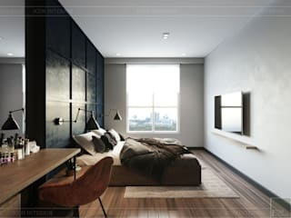 Industrial style bedroom by ICON INTERIOR Industrial