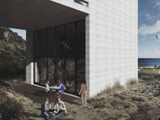 Refugio Pendiente Costera: Casas de estilo  por Logan Leyton Arquitectos,