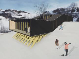 Refugio en la nieve: Casas de estilo  por Logan Leyton Arquitectos,