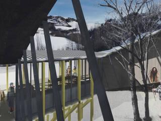 Refugio en la nieve: Jardines de invierno de estilo  por Logan Leyton Arquitectos,