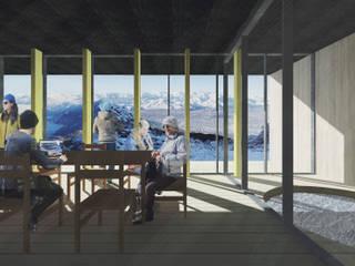 Refugio en la nieve: Livings de estilo  por Logan Leyton Arquitectos,